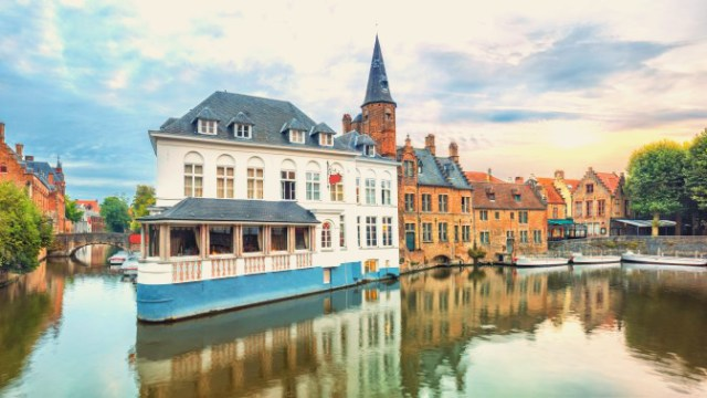 Travelling by Ferry: Bruges Canals