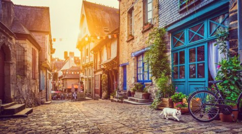 Village in Brittany, France