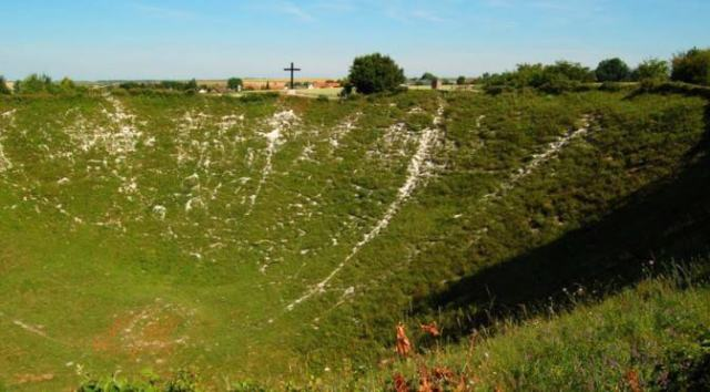 Battlefields to Visit in The Somme: Lochnagar Crater - La Boisselle