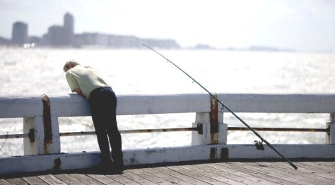 Fishing in Ostend