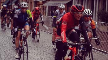 Gaby cycling Paris-Roubaix