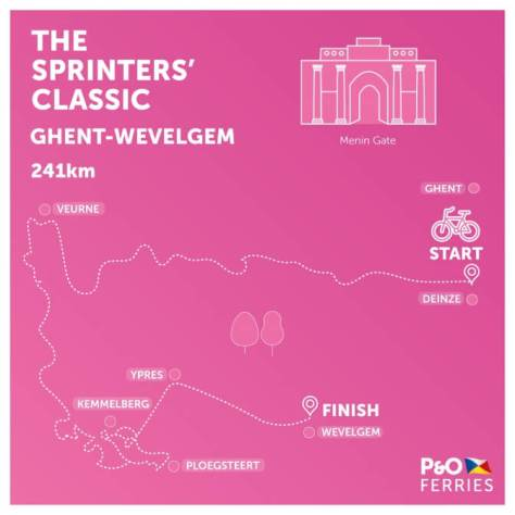 Ghent-Wevelgem 2017 route map