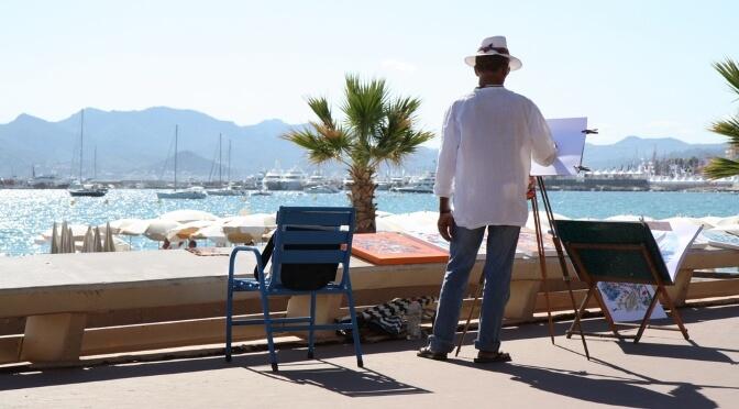 Artist on La Croisette, Cannes