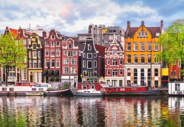 Houses along the Amsterdam canal