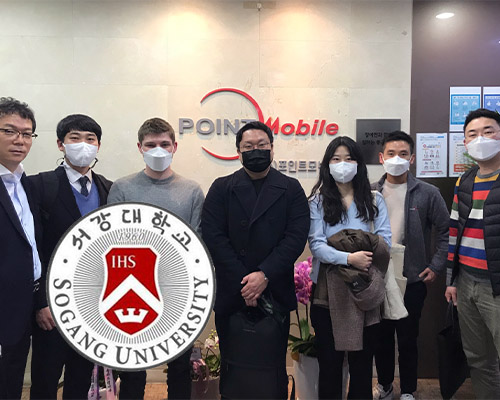 Sogang university students with Point Mobile