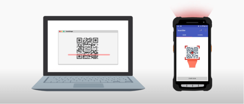 Scan2Stage is Point Mobile's convenient provisioning solution, free of charge.