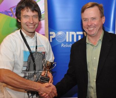 2011 Meshy Award winner Dr. Michael Boettcher with Dr. John Steinbrenner, Pointwise V.P., R&D.