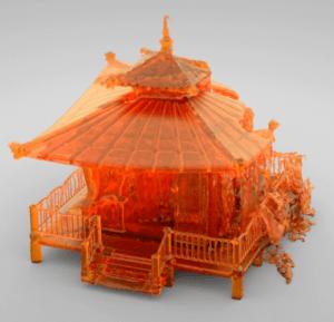 Screen capture from Javier Moreno's Melting Pagoda video on Vimeo.