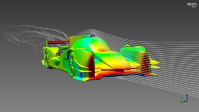Motorsport company ORECA will use ANSYS' software to optimize the design of their cars. Image from IT Business Net. Click image for article.