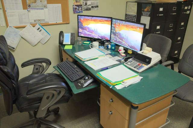 Rose Mary's current workspace.