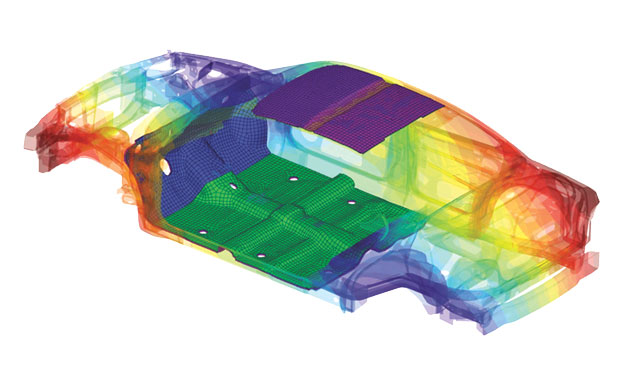 I just really like this image from an Actran acoustic simulation. Image from MSC. Click image for article.
