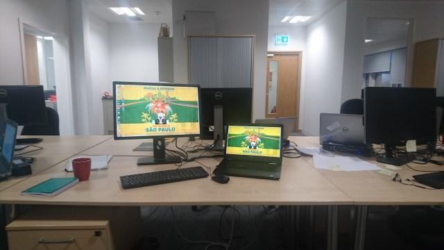 Simon's current workspace.