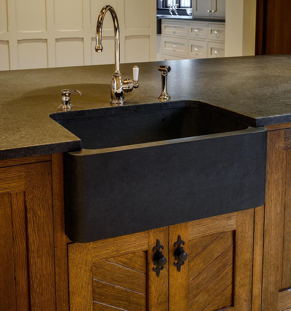 9 Rock Solid Farmhouse Sink Designs With Soapstone ... on Farmhouse Granite Countertops  id=90699