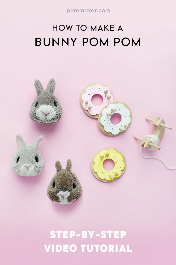 Pom Maker tutorial - How to make a bunny pompom