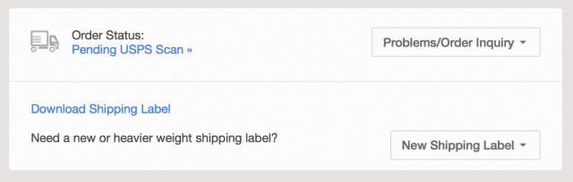 web order status