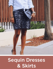 Sequin Dresses and Skirts