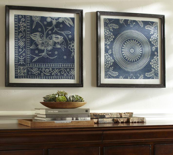 Framed Indigo Prints
