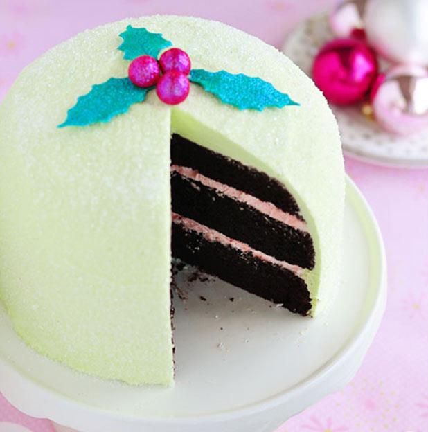 Peppermint-cake