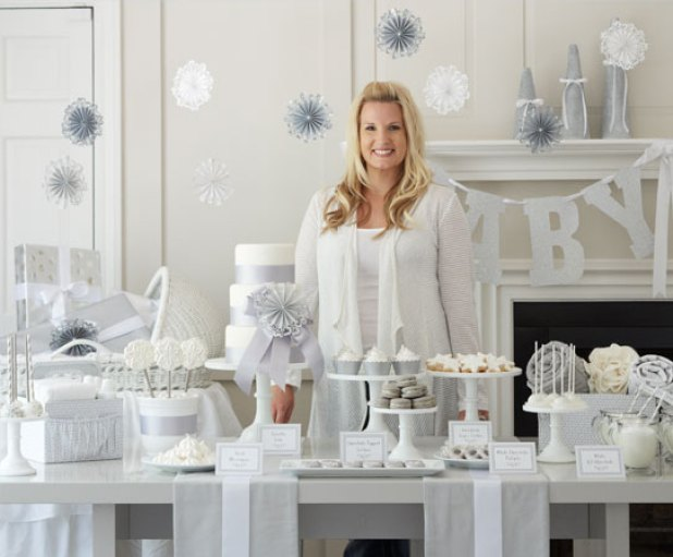 Top Pinned Posts from 2014 | A Chic White Winter Baby Shower