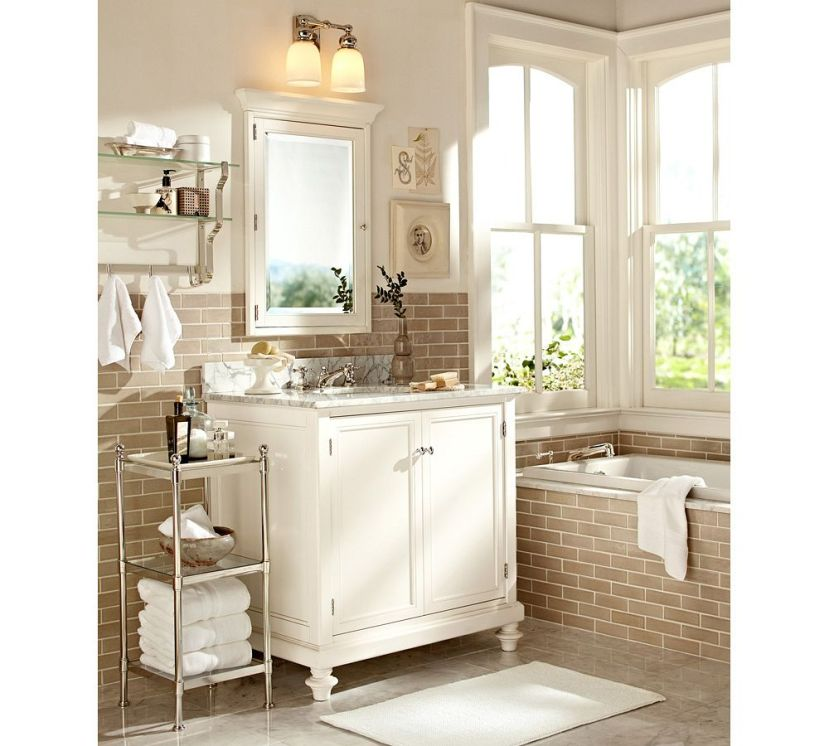 Pottery Barn Bathroom: Bath Reno 101: How To Choose Lighting