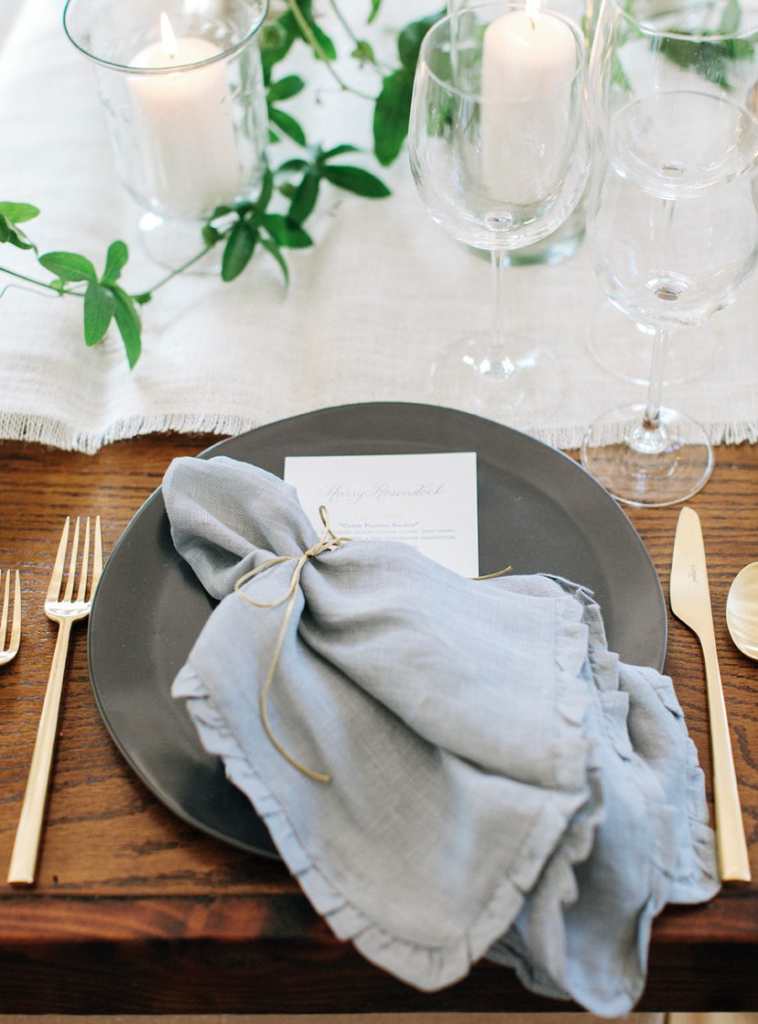 Our Rustic Luxe napkins tied neatly with twine.