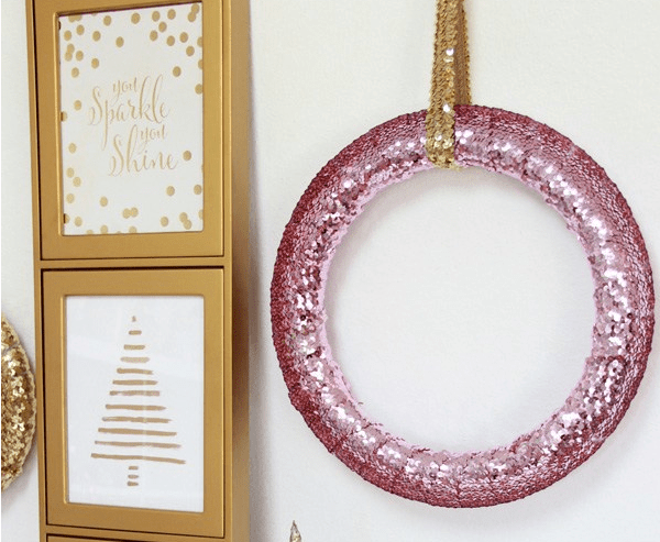 DIY Sparkle Sequin Wreath