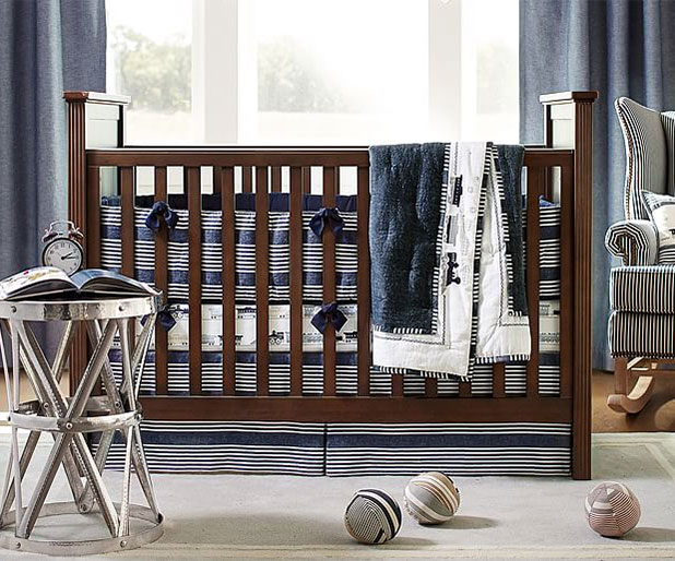 Natural Elements like Linen Look Great in a Boys Nursery | 8 Nursery Trends for the New Year