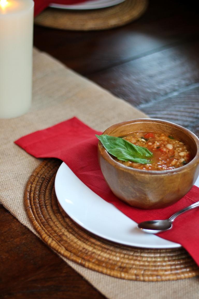 Easy Clean Healthy Recipe Italian White Bean And Basil Soup