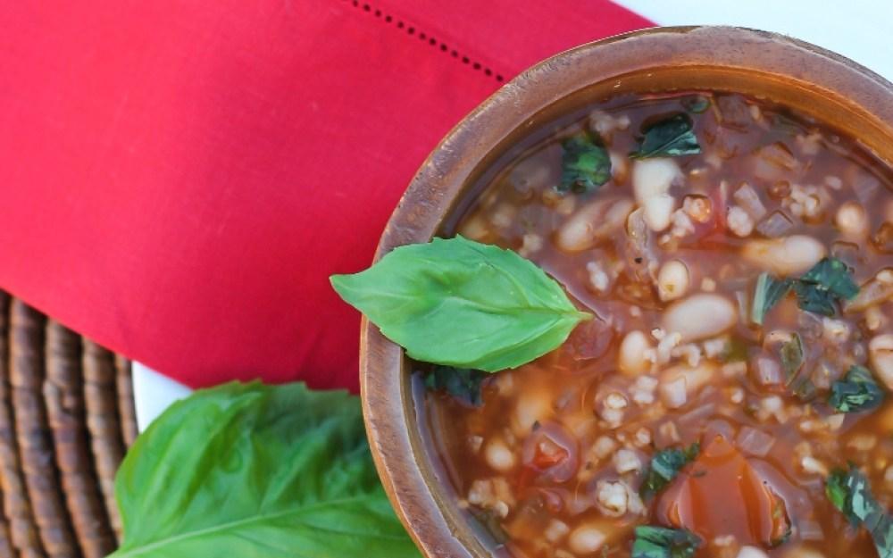 White Bean Tomato Soup 5