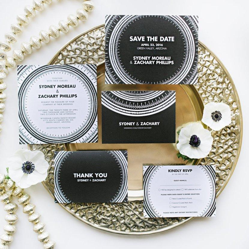 Wedding Paper Divas & Pottery Barn Global Chic