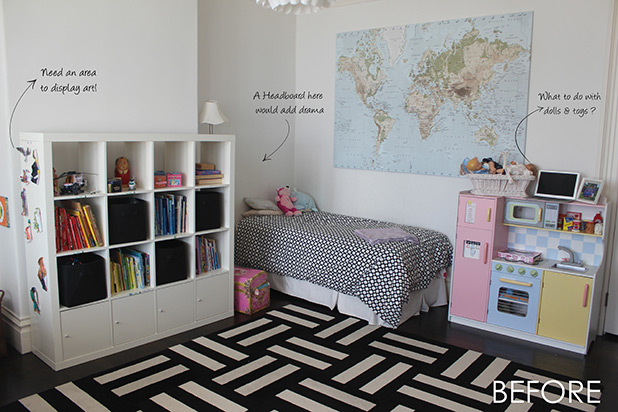 Before the Room Makeover | Design Challenge: Shared Space for Brother & Sister