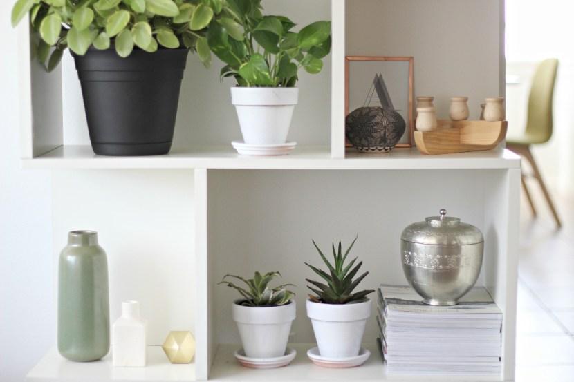 pottery barn shelf styling 4