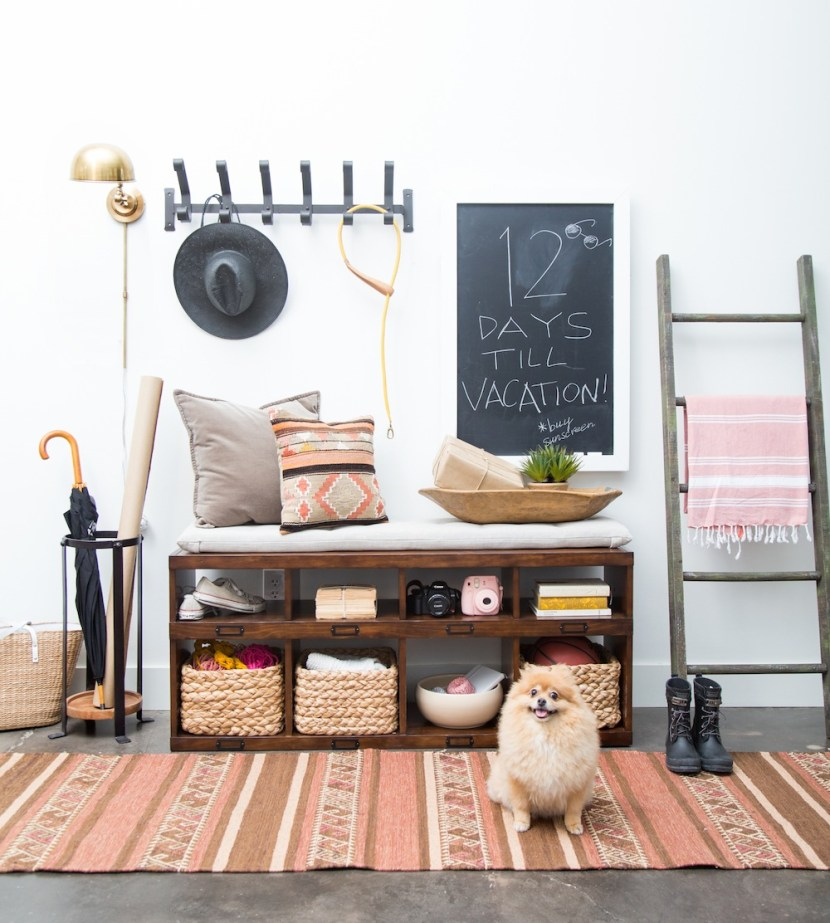 Modern Rustic Bohemian Entryway Makeover