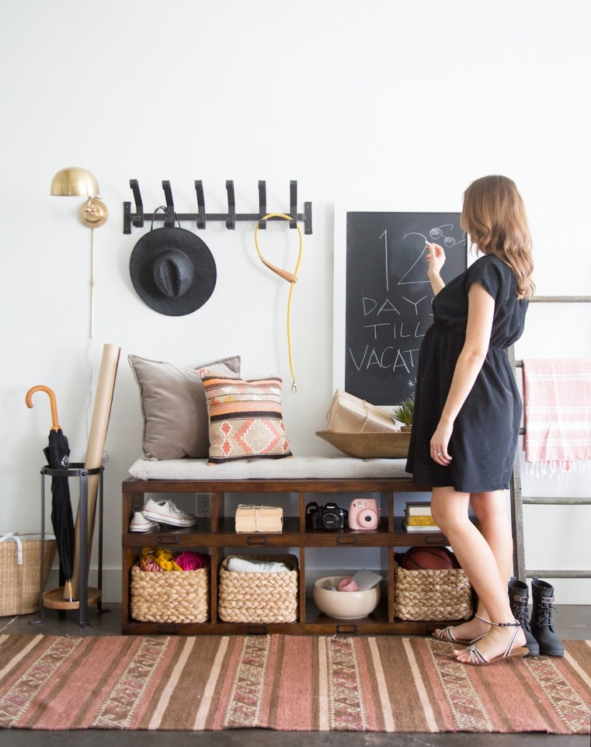 Pottery Barn and Camille Styles Entryway Makeover