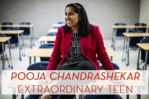 ALEXANDRIA, VA - APRIL 6: Pooja Chandrashekar, 17, at Thomas Jefferson High School for Science & Technology in Alexandria, Virginia Monday April 6, 2015. (Photo by J. Lawler Duggan/For The Washington Post)