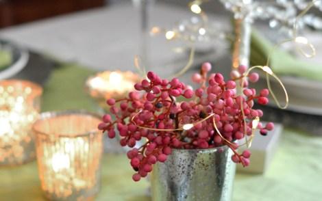 mini twinkle lights on table