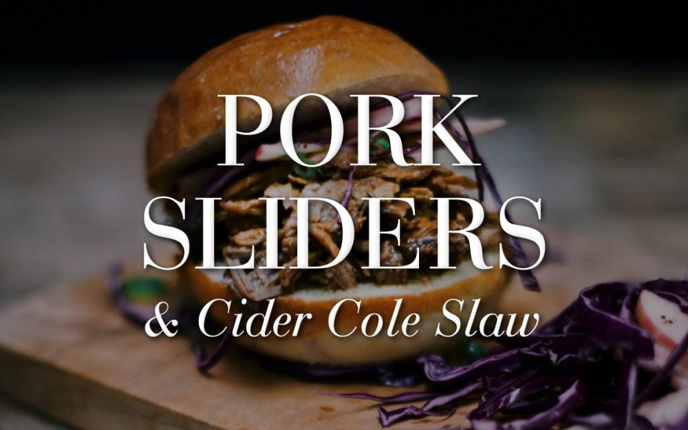 Pork Sliders & Cider Cole Slaw