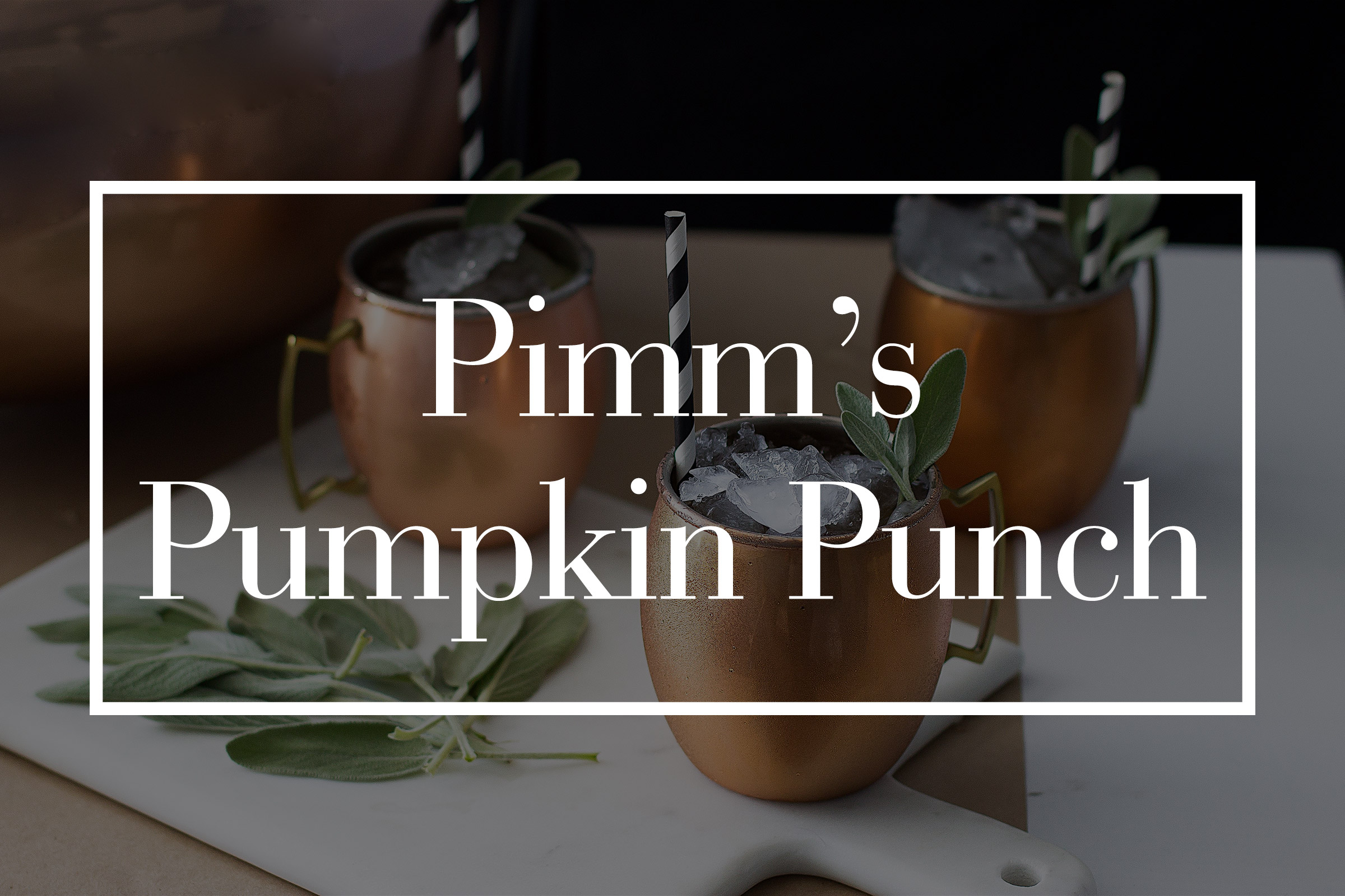 Pimm's Pumpkin Punch