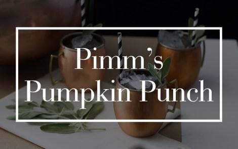 Pimm's Pumpkin Punch
