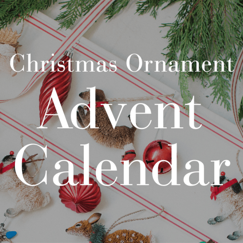 Christmas Ornament Advent Calendar