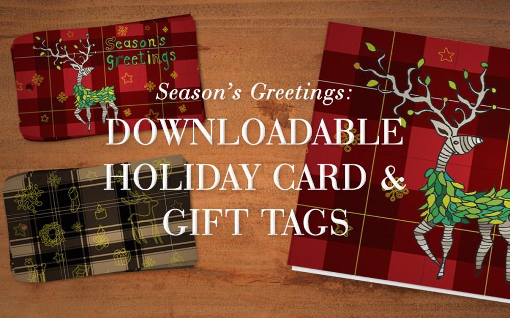Season's Greetings: Downloadable Gift Tags & Card by George McCalman