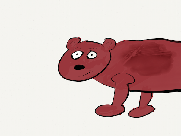 brown cartoon bear