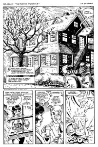 This page from Fortier's comic XXX shows the varying perspectives an artist can capture.