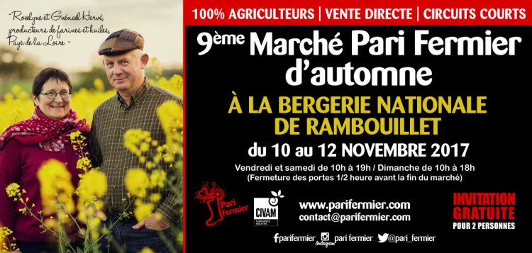 Pari fermier à Rambouillet – 10 au 12 novembre
