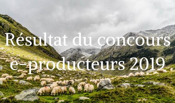 résultats du concours e-producteurs 2019