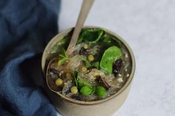 recette de bouillon végétarien au miso