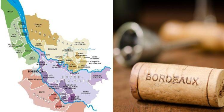 Carte des vins de Bordeaux, pour mieux avoir en tête l'étendue du vignoble et la répartition des zones phares !