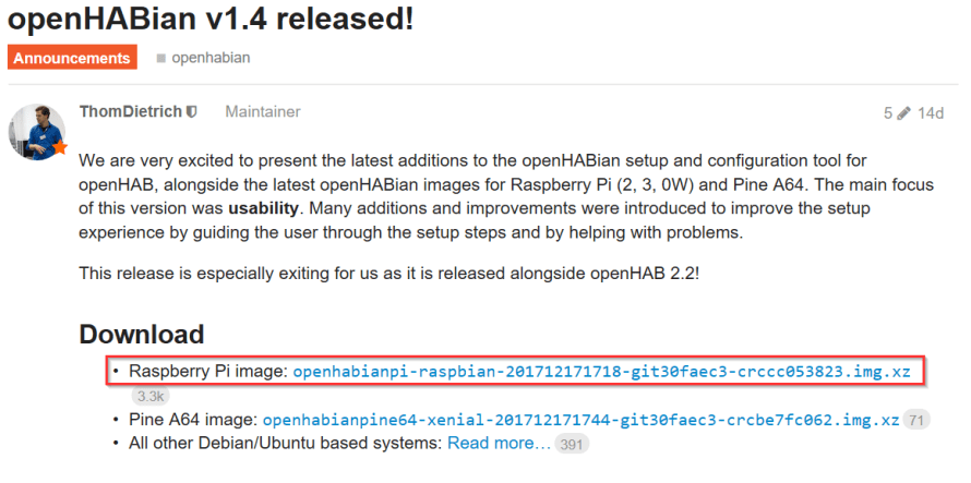 openHAB download 2