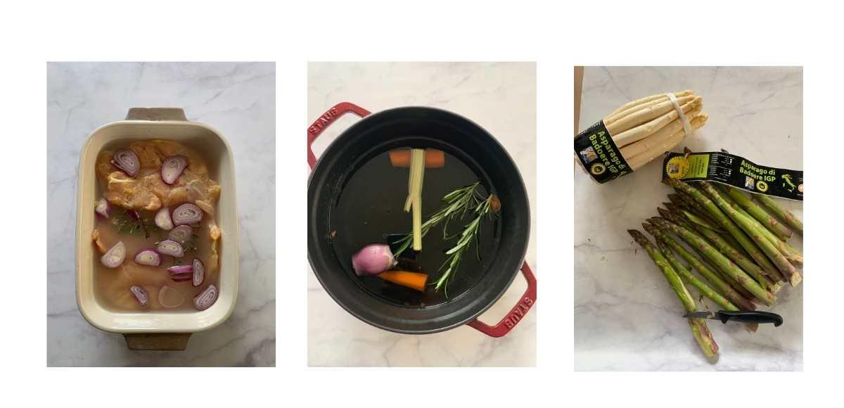 ricetta passo passo del rotolo di pollo con asparagi