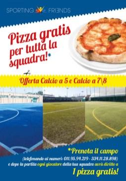 Sporting Friends Volantino calcio_fronte